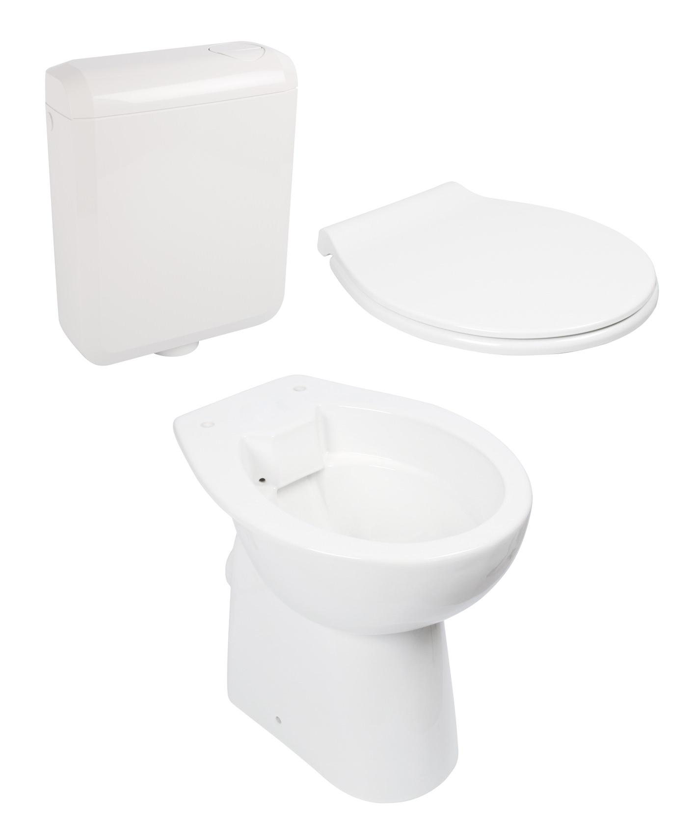Sehr Spülrandloses WC im Keramik-Set 99000187 | www.calmwaters.de GY15