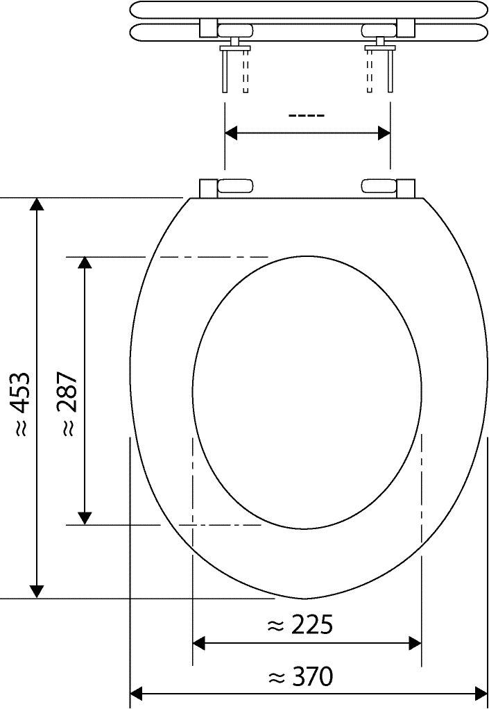 Geberit Renova Nr.1 Plan WC-Sitz 573075