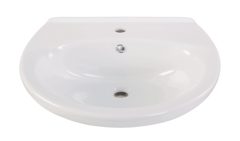 Waschbecken Maire in Weiß, 55 cm
